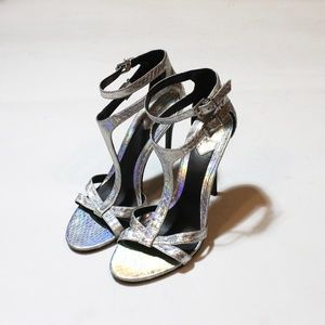 Brian Atwood Hologram Strappy High Heels Worn Once
